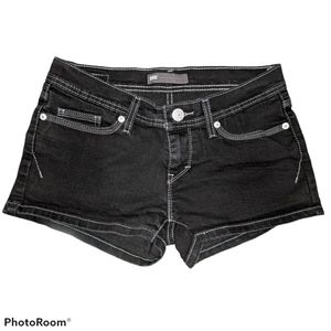 Levi's black shorts white stitches